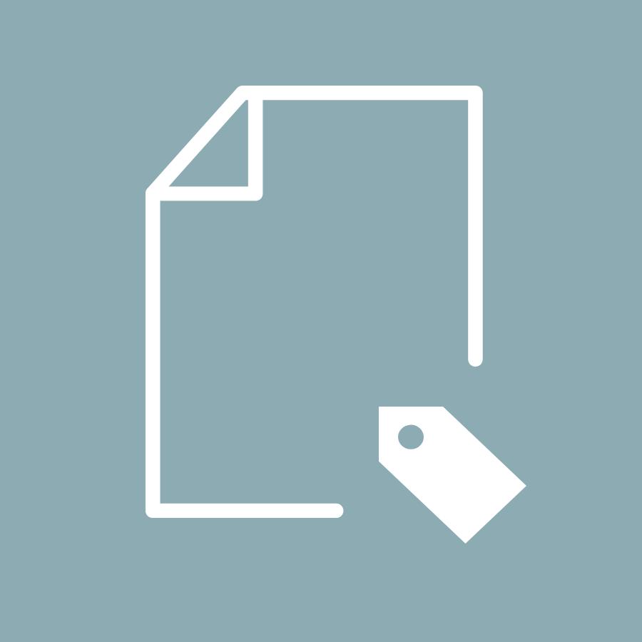 Icon einheitliche Datenklassifizierung